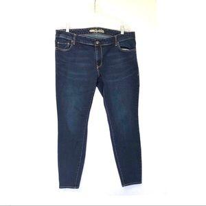 Old Navy Rock Star Dark Wash Skinny Jeans Sz 20